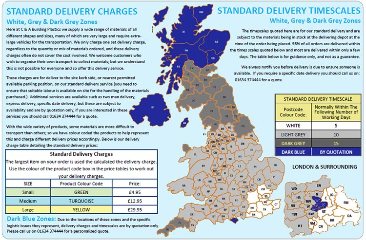 Delivery Charge Map
