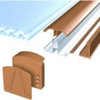 Avon Glazing Bar Brown for 16 and 25mm Polycarbonate