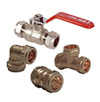 15mm and 22mm Brass Compression Fittings