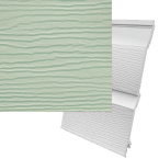 333mm Fortex Double Shiplap Cladding Sage Green