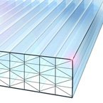 40mm Polycarbonate Sheet 9-Wall Clear