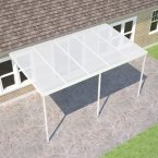 Sanctuary Carport Kit White & Clear Sheets