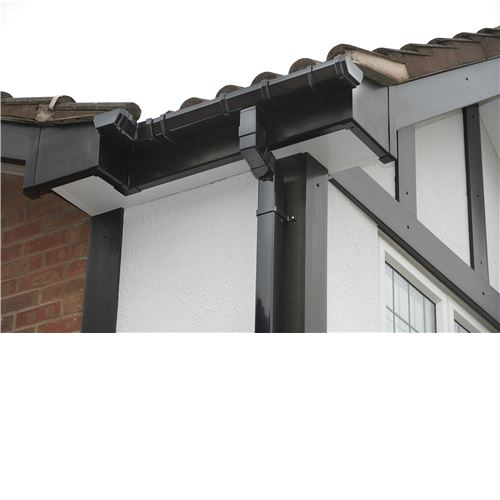 4m Square Downpipe Black
