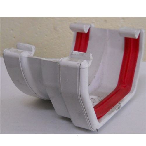Square To Round Gutter Adaptor White