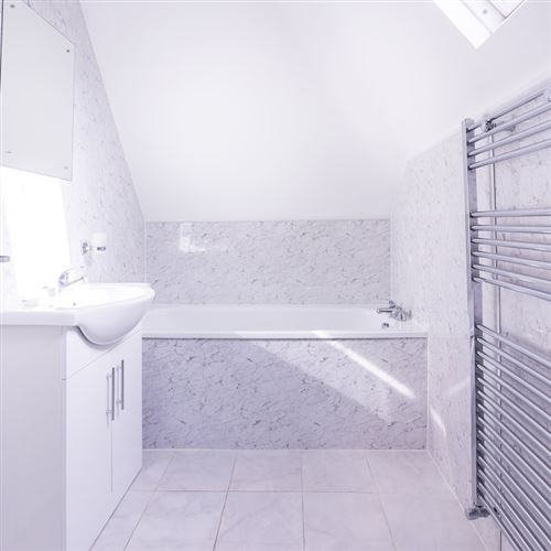 Shower Wall Panel 2 4m X 1m X 10mm White Marble