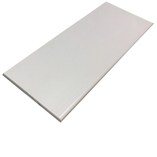 White Plastic Soffit Board 2 5m X 225mm X 10mm