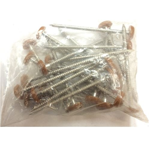 65mm Caramel Headed Nails Pack Of 25