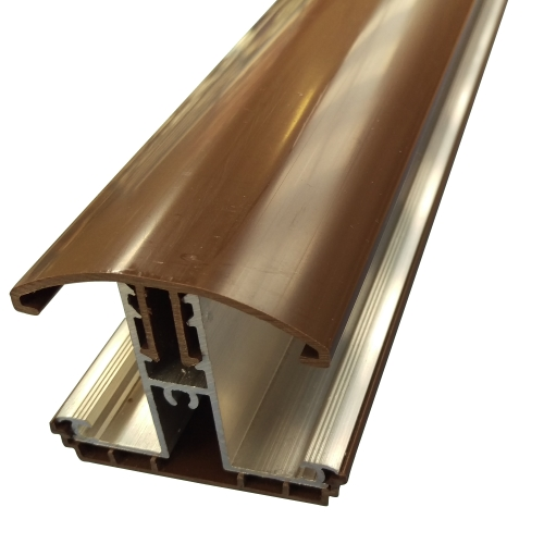4.0M Avon Glazing Bar for 35 / 40mm Polycarbonate Brown
