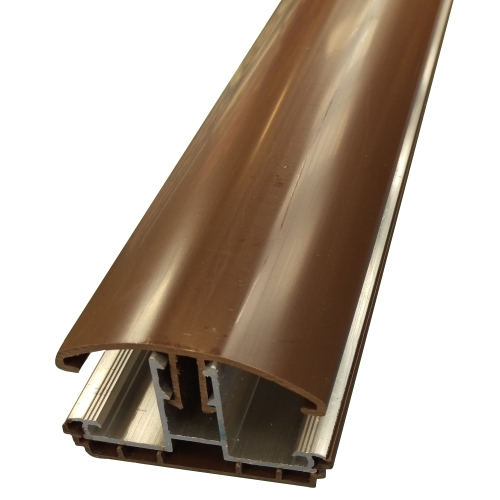 3.5M Avon Polycarbonate Glazing Bar for 16/25mm Brown