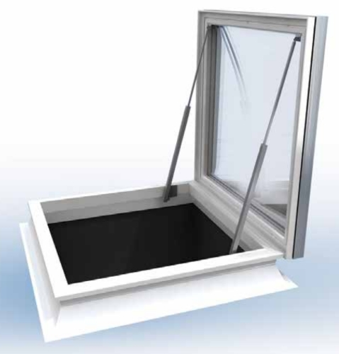 1500x1050mm Access Dome, Polycarbonate Clear, Triple Glazed, Vented Kerb,