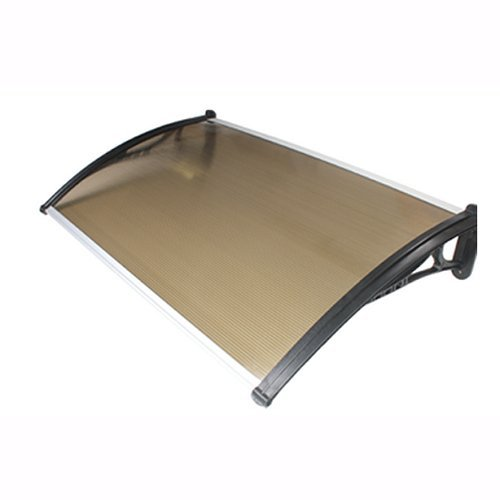 900mm x 1200mm Door Canopy Black Brackets Multiwall Bronze
