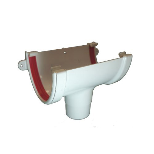 Full-Flo Gutter Running Outlet White