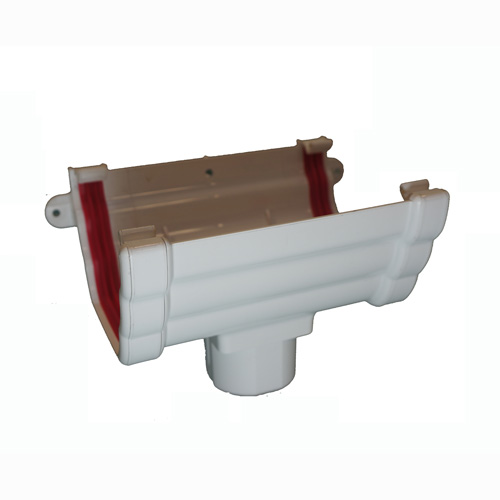 Running Outlet Ogee White