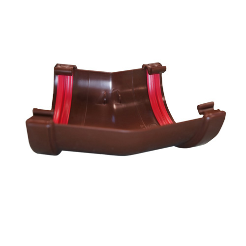 Round Gutter Angle 135° Brown