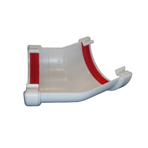 Round Gutter Angle 135° White
