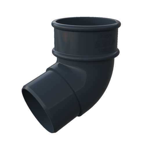 Round Downpipe 112° Offset Bend Anthracite Grey