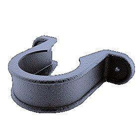 Down Pipe Bracket Cast Iron Effect Black