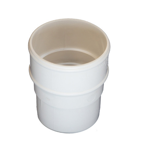 Round Downpipe Connector White