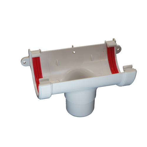 Round Gutter Running Outlet White