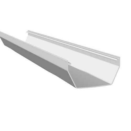 2M Square Gutter 114mm White