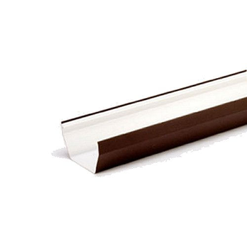 4M Square Gutter 114mm Brown