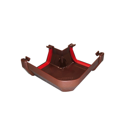 Square Gutter Angle 90° Brown