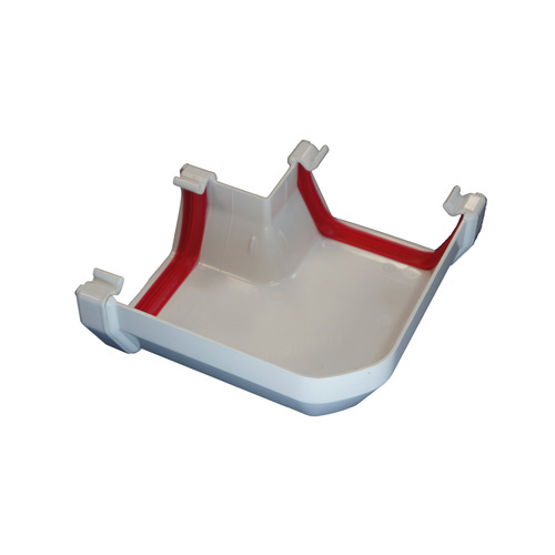 Square Gutter Angle 90° White