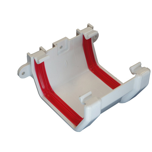 Square Gutter Joint Bracket White