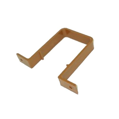 Square Downpipe Bracket / Clip Caramel