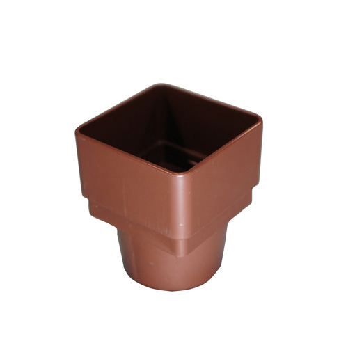 Square to Round Downpipe Adaptor Brown