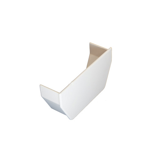 Square Gutter Stopend Internal White