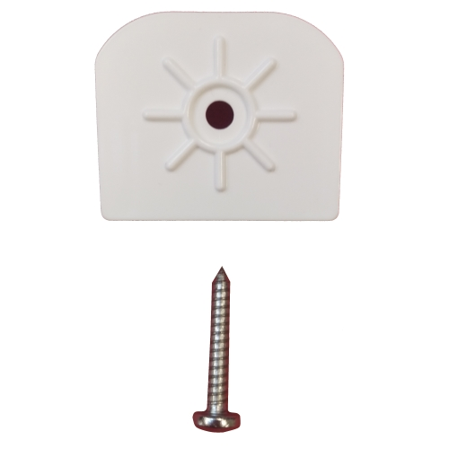HawK Bar End Cap White