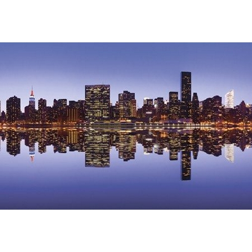 Kitchen Splashback 2440x610mm Picture: New York Reflection