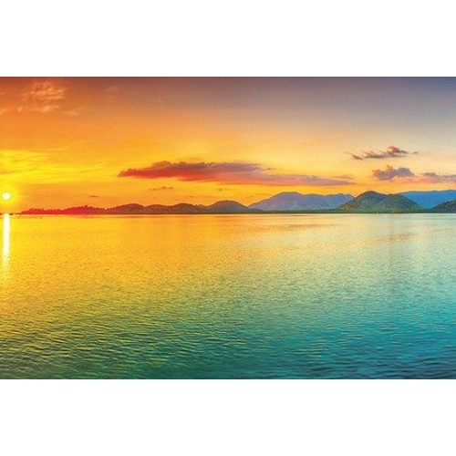 Kitchen Splashback 2440x610mm Picture: Sunset Horizon