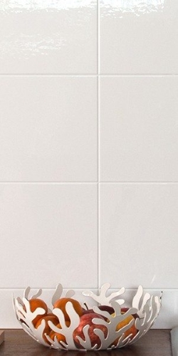 Large Tile Effect Wall Panel, White 2495 x 905