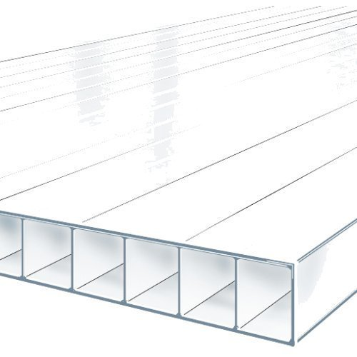 Greenhouse Glazing 4mm Polycarbonate 1220mm x 610mm (4' x 2') pk10 CLEAR