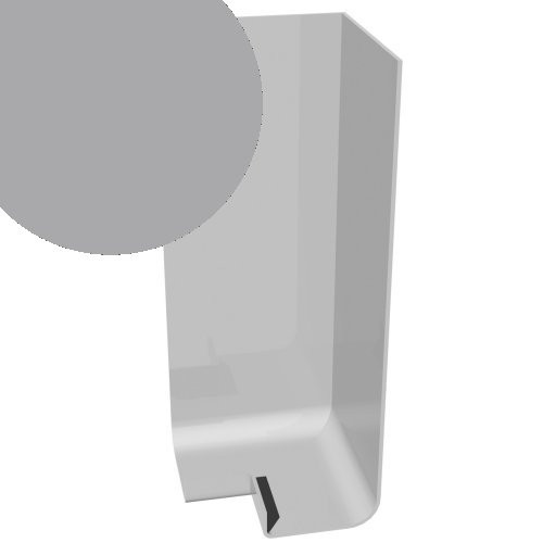 300mm x 90° External Corner Cover Storm Grey