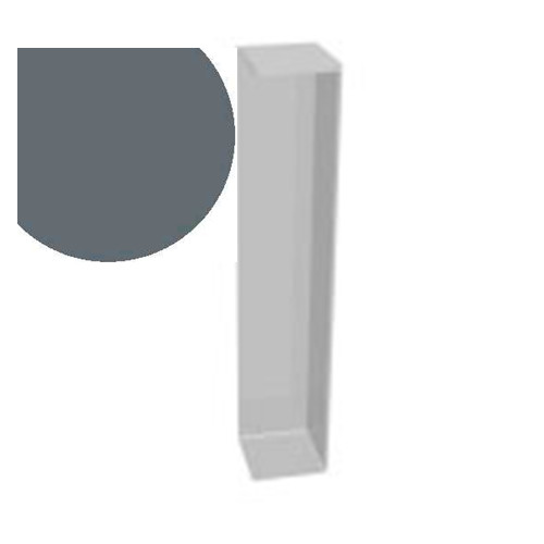 600mm x 90° Double Ended External Corner Anthracite Grey