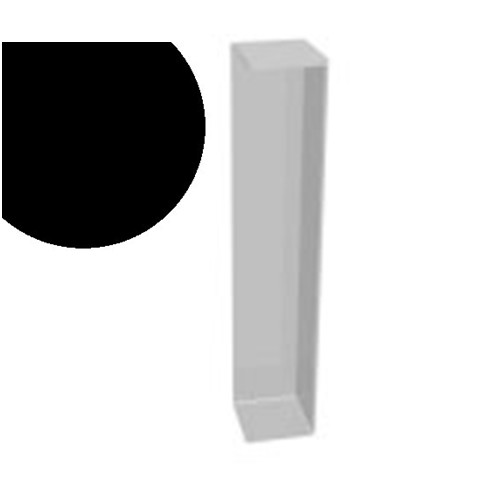 600mm x 90° Double Ended External Corner Black