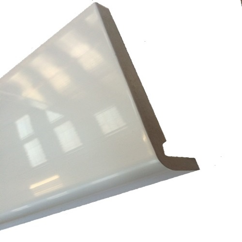 2.5M x 150mm x 18mm Replacement Fascia Board White