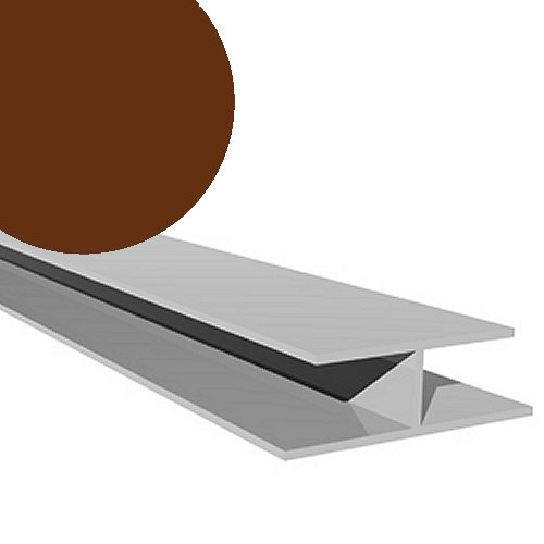 5M H Trim 10mm Boards Solid Brown