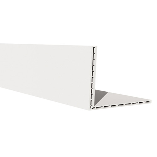 2.5M x 100 x 80mm Hollow Angle White