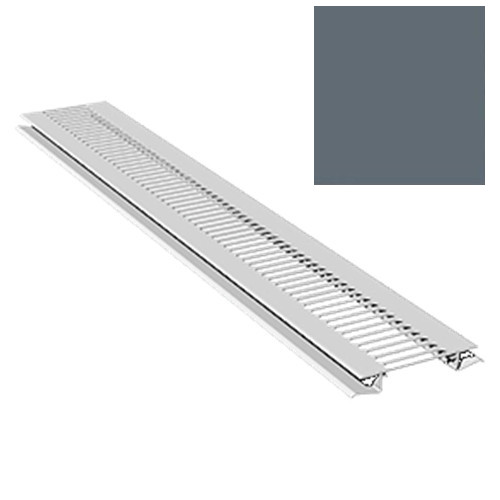 2.5M Soffit Vent Strip Trim 10mm Boards Anthracite Grey