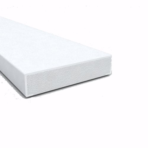 2 5m X 28mm Rectangle Bead White