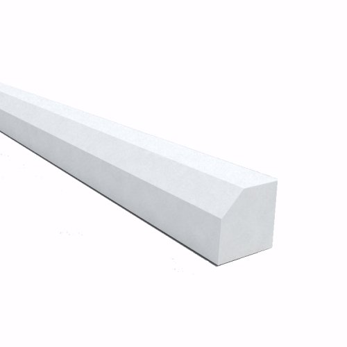 5m X 15mm Square Trim White
