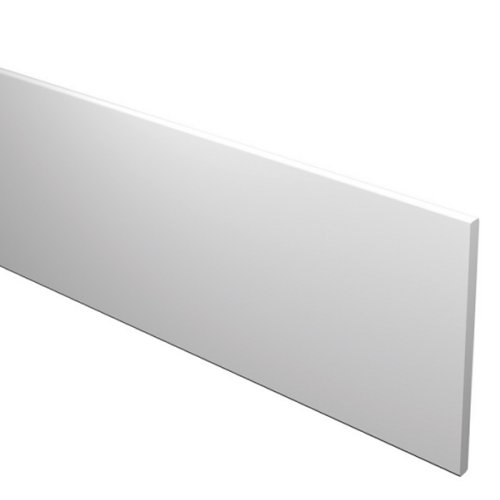 5M 200mm x 16mm Flat Fascia Board White