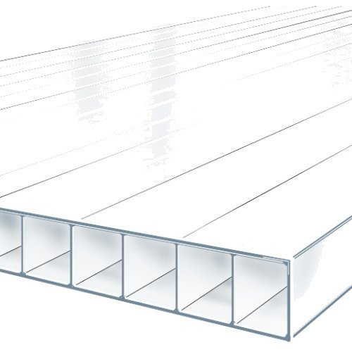 2.5M x 2100mm Twinwall 4mm Polycarbonate Sheet  CLEAR