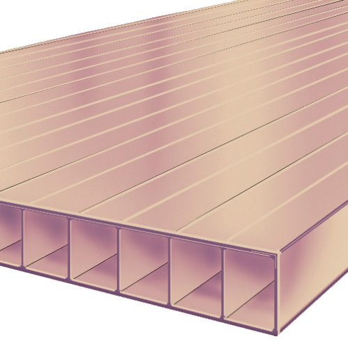 1.0M x 700mm Bonus 10mm Polycarbonate Sheet Bronze
