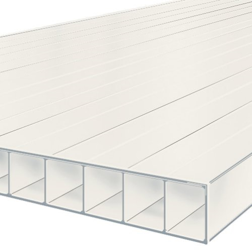 6M x 700mm Bonus 10mm Polycarbonate Sheet White