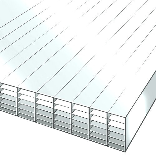 2.5M x 2100mm 35mm Polycarbonate Sheet Opal White